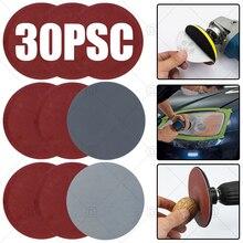 Reparação do farol do carro polimento restauração kits de lixa discos de lixamento almofada abrasivo polonês roda de madeira lixar conjuntos de papel