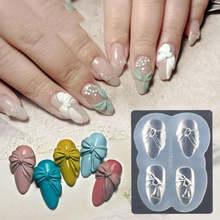 3d силиконовая форма для вырезания ногтей штампы трафареты кристальная
