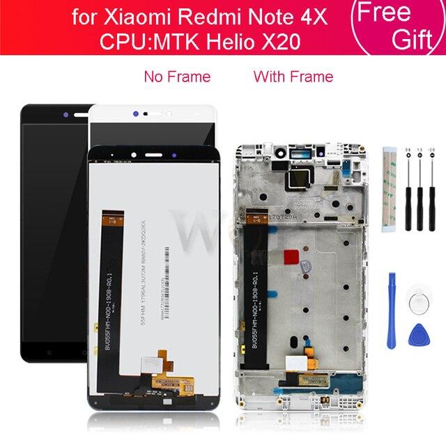 Für Xiaomi Redmi Hinweis 4X 4GB MTK LCD Display Touch Screen Glas Panel Digitizer mit Rahmen Montage Note4X Pro reparatur Ersatzteil