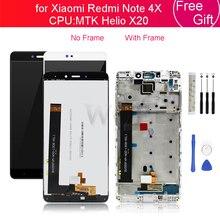 Para Xiaomi Redmi Nota 4X 4GB MTK LCD Exibir a Tela De Toque Do Painel de Vidro Digitador com a Montagem do Quadro Note4X Pro reparação de peças de Reposição