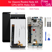 Xiaomi Redmi Note 4X 4GB MTK LCD 디스플레이 터치 스크린 유리 패널 디지타이저 (프레임 어셈블리 포함) Note4X Pro 수리 용 예비 부품