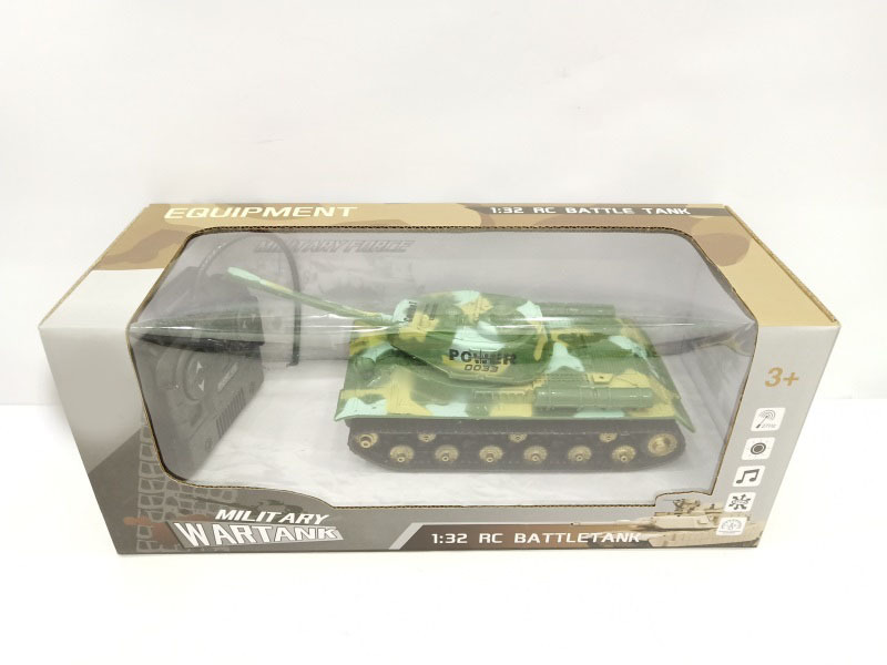 1: 32 Stone Remote Control Armored Tank Light Music Children Electric Military Remote Control Car Model Stall
