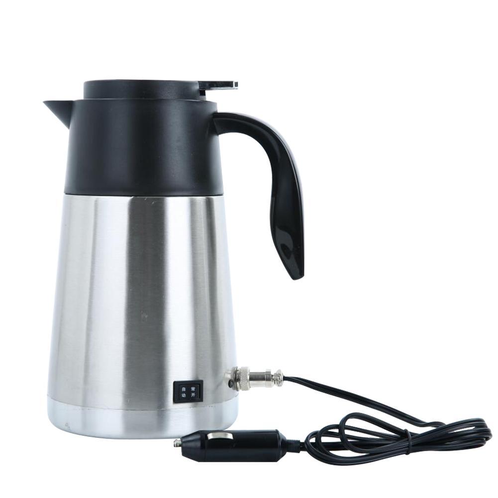 12V 24V 1300ML voiture électrique chauffée bouilloire en acier bouteille de chauffage tasse d'eau bouillante voiture chauffage tasse d'eau chaude plus chaud voyage thé tasse