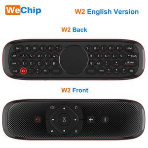 Image 2 - W2 mouche Air souris voix télécommande Microphone 2.4G sans fil Mini clavier Gyroscope pour Smart Android tv box Projecter pk mx3