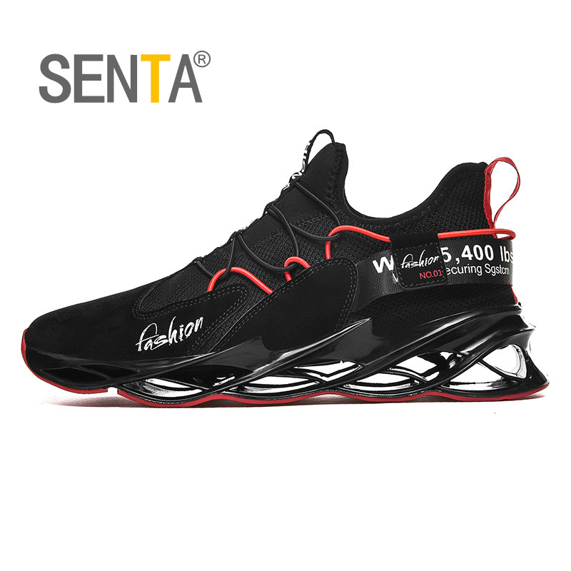 SENTA Breathable Men Running Shoes New Blade Cushioning Sports Shoes Comfortable Walking Jogging Training Shoes Zapatillas