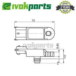 Image 5 - HIGH QUALITY MAP INTAKE AIR TURBO BOOST PRESSURE SENSOR FOR NISSAN RENAULT 1.5 1.9 2.0 DCI D 223650001R 25085 AW300