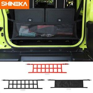 SHINEKA Stowing Tidying For Jimny 2019+ Black Trunk Box net trunk cargo net Organizer For suzuki Jimny 2019 2020 Accessory