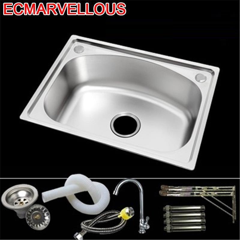 Afwasbak Umywalka Tarjas Integral Escurridor Para Acero Inoxidable Lavabo Fregadero De Cocina Cuba Pia Cozinha Kitchen Sink