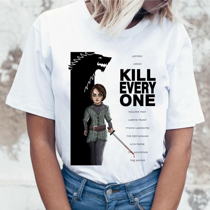 Arya Stark the Kill List NOT TODAY, забавная футболка с надписью «Игра престолов», женская футболка, Женский Топ, футболка Jon Snow Mother of, футболка с драконом