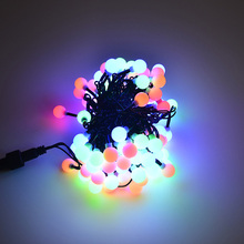 10m 100LEDs christmas garland ball light string outdoor wedding decoration fairy lights