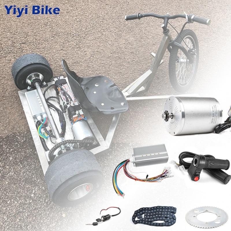 Elektrische Roller Kit Electric Bike Conversion Kit 3000w 48V-72V Elektromotor für Skateboard Ebike Motor controller 50A Gehen Kart