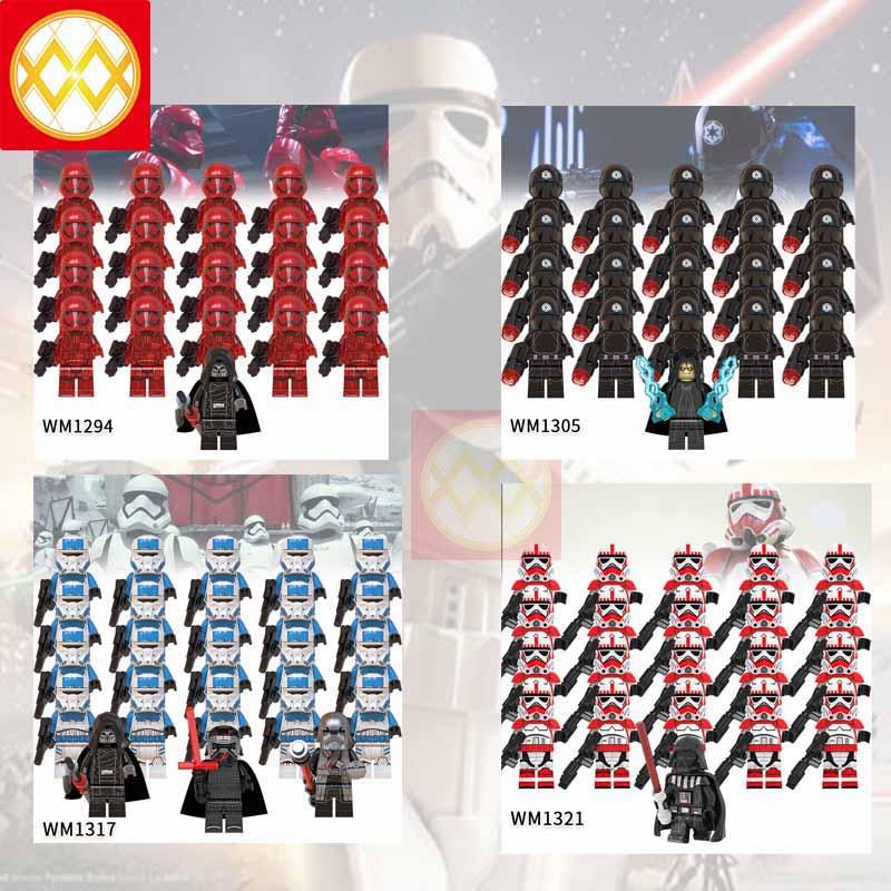 lEGOED Lord of Star Wars Robot Black Samurai Sith Stormtroopers  MINIFIGURED Army Set Model Building Blocks Children Toys