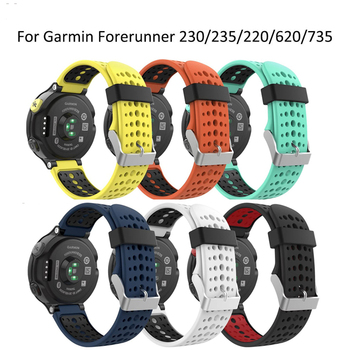 Strap For Garmin Forerunner 230 235 Lite 220 620 630 735XT GPS Watchband Silicone Sport Replacement WristStrap Bracelet