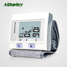 Athphy Wrist Blood Pressure Meter Digital LCD Test Tonometer Fully Automatic Measure