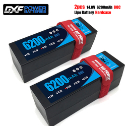DXF Lipo Battery 4S 14.8V 6200mAh 5300mah 6500mah 8400mah 80C 130C  100C 120C  HardCase for HPI HSP 1/8 1/10 Buggy RC Car Truck