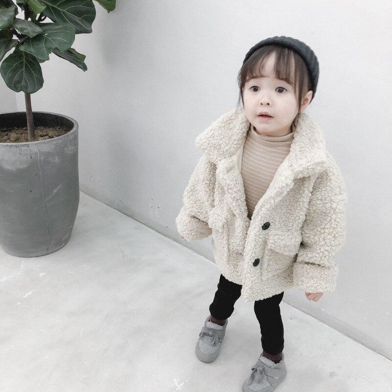 da criança meninas cordeiros lã quente algodão jaqueta
