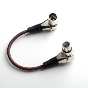 Image 5 - 10pcs/lot Right Angle 3 Pin 3 PIN Bending Type 3PIN XLR Male Female Plug Mic Microphone Audio Cable Connectors