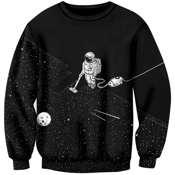 Cloudstyle 2020 Men 3D Sweatshirts Space Vacuum Cleaner Robot 3D Print Fashion Jumpers Pullovers Streetwear Tracksuit Tops Hoody