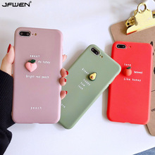 Cute 3D Fruit Silicone Case For iPhone 11 Pro XS Max X XR 7 6 6S 8 Plus Case Back Cover Avocado Candy Color Soft TPU Phone Cases simple cartoon anime puppy phone case for iphone xs max xr 6 6s 7 8 plus candy soft tpu back cover puppy wireless earphone case