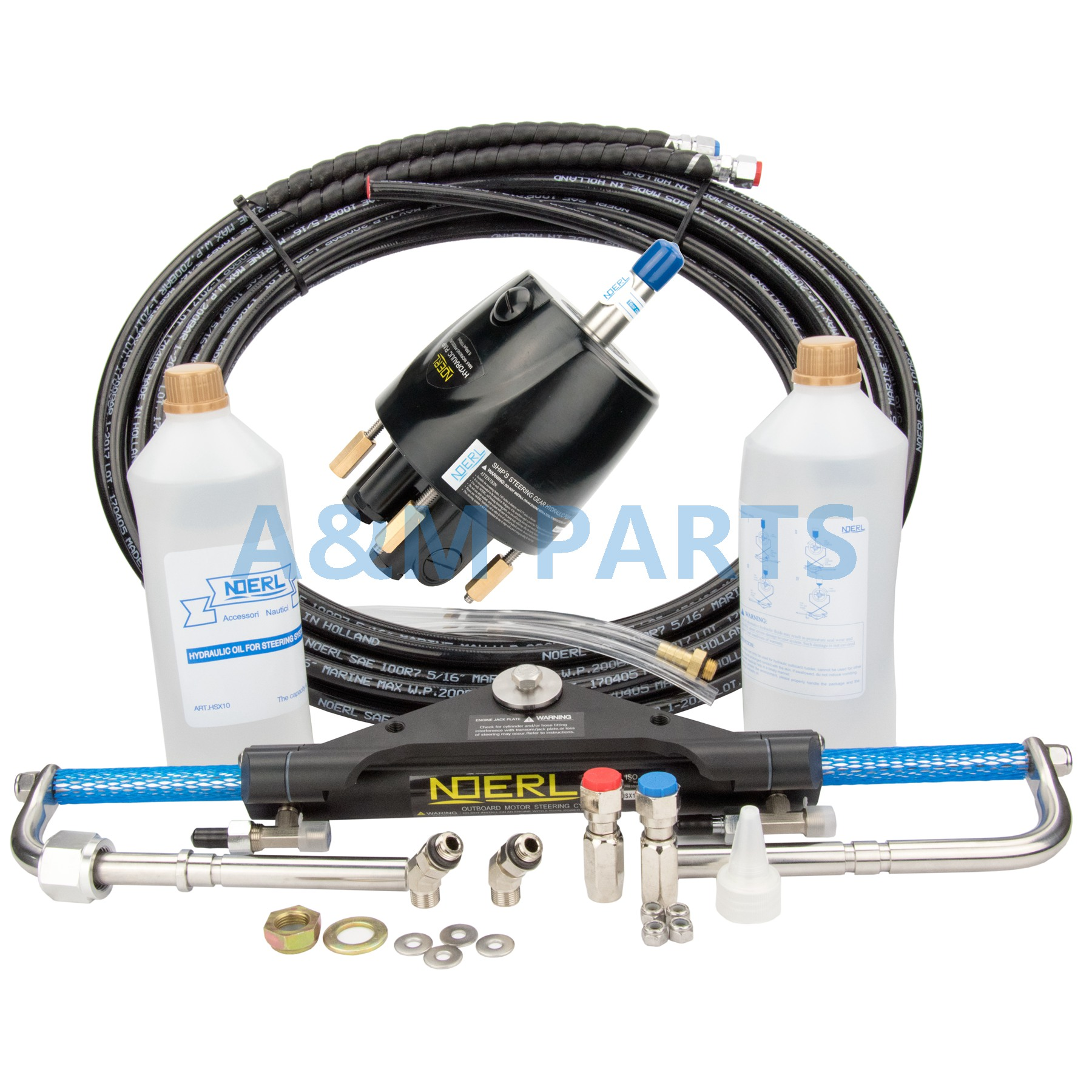 Boat Marine Hydraulic Outboard Steering System Kit Cylinder Helm 150HP