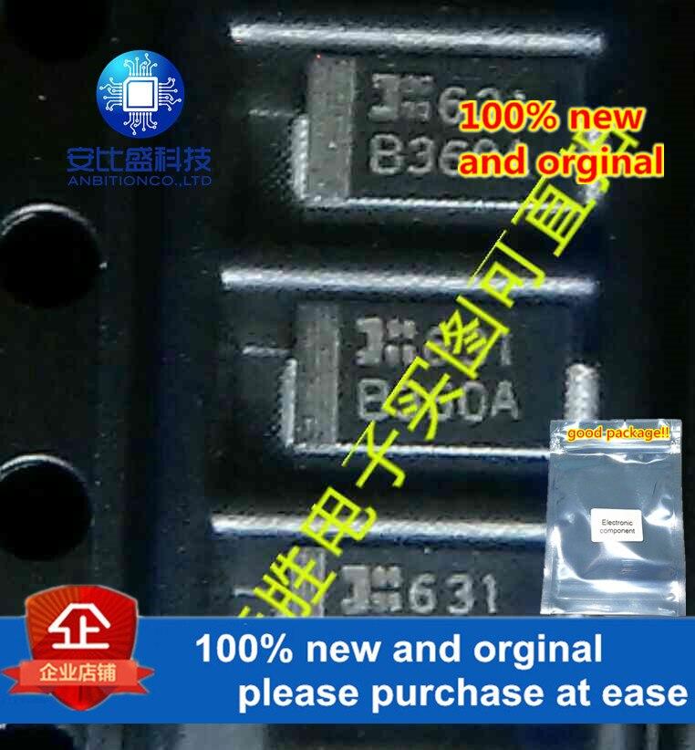 50pcs 100% New And Orginal B360A 3A60V DO214AC Silk-screen B360A In Stock
