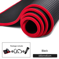 10mm Thickened Non-slip Yoga Mats Sports Tear Resistant NBR Fitness Mats Sports Gym Pilates Pads With Yoga Mat Bag & Bandages