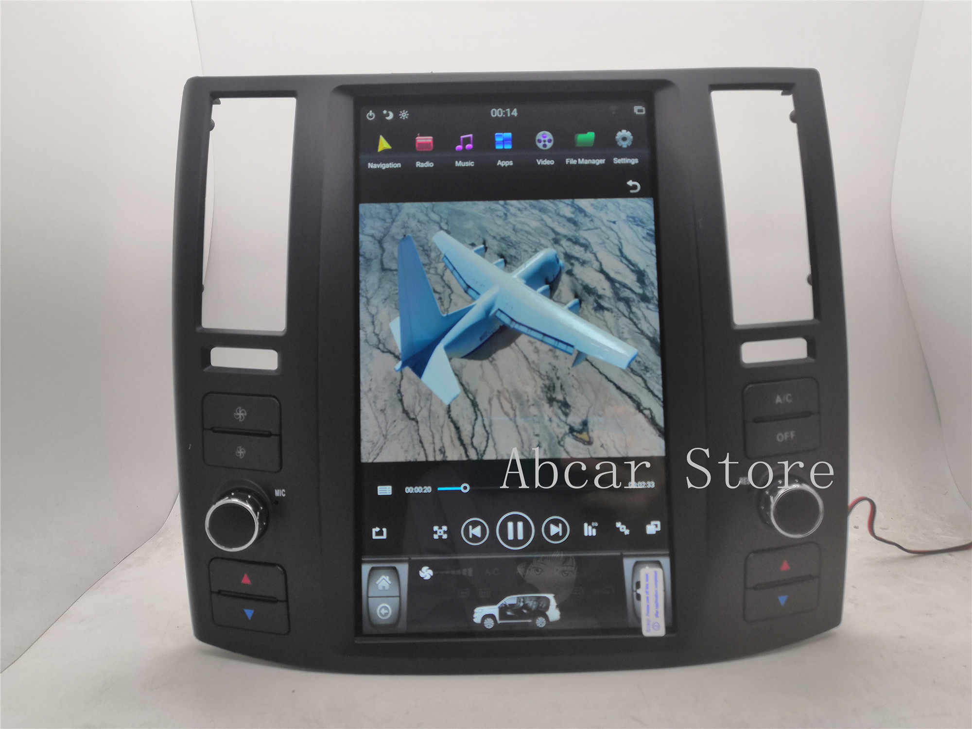11,8 ''Tesla stil Android 8.1 Auto dvd player GPS Navigation Für infiniti FX FX35 FX45 2004-2008 stereo radio auto CARPLAY PX6