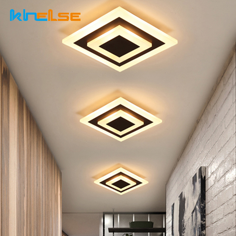 Living Room Ceiling Light Square Hallway Balcony Corridor Coffe Lamps Luminaria 12w LED Bedroom Diamond Acrylic Lighting Lampara