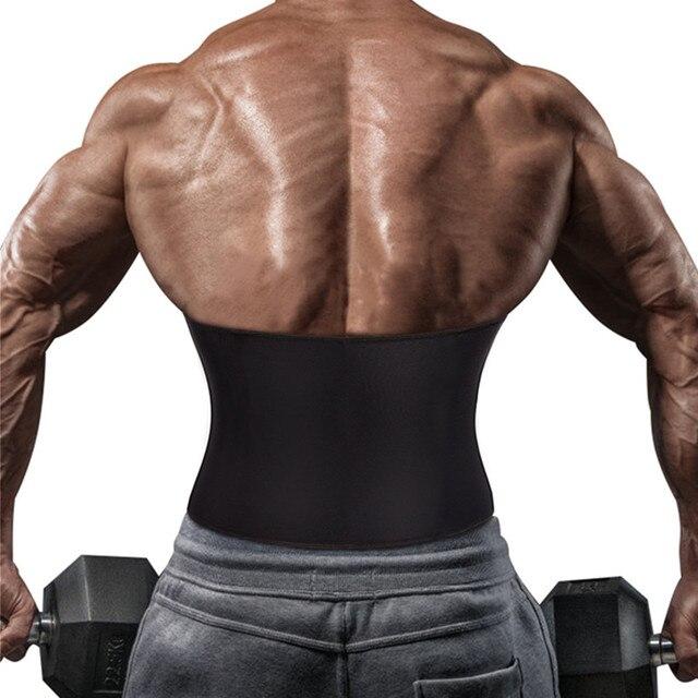 2020 Body Shaper Waist Trainer Slimming Shapewear Men Neoprene Sauan Sweat Weight Loss Belt Gym Fitness Modeling Strap Corset 1