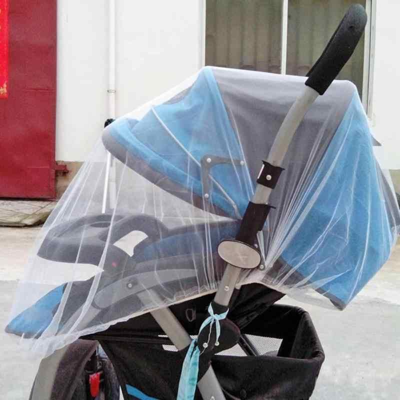 Bébé poussette moustiquaire moustiquaire accessoires maille sûre Buggy berceau filet panier moustiquaire poussette couverture complète filet