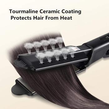 Hair Straightener Four-Gear Tourmaline Ceramic Hair Flat Iron Professional Electronic Hair Straightening Steam Ion Straight Hair 5