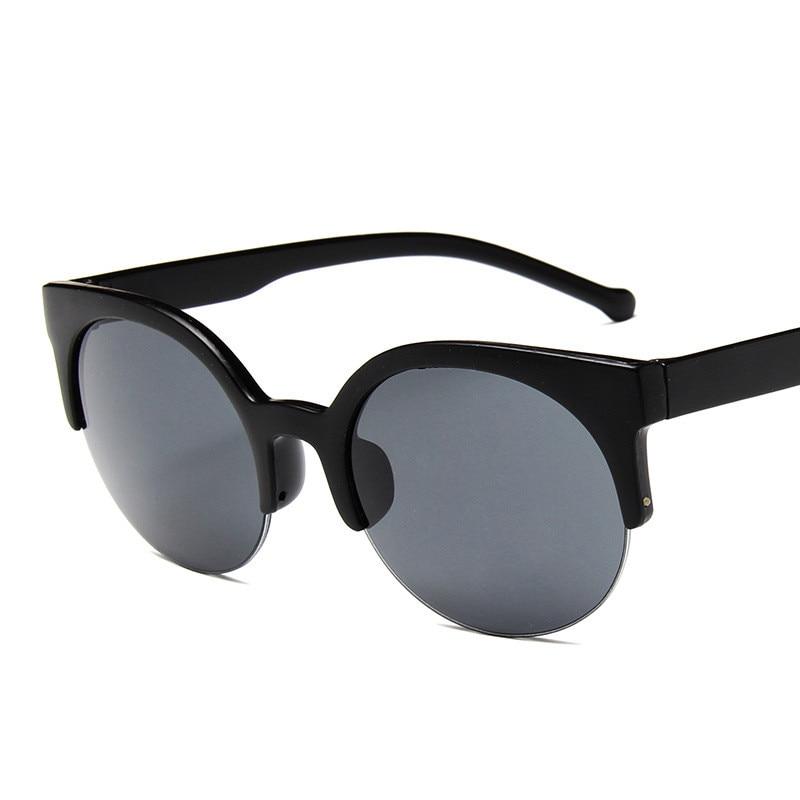 COOYOUNG Fashion Vintage Sunglasses Women Semi-Endless Ladies Round Sun Glasses Oculos De Sol Feminino UV400