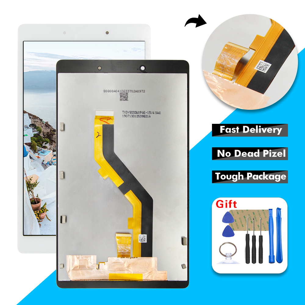 AAA LCD For Samsung Galaxy Tab A 8.0 2019 SM-T290 SM-T295 T290 T295 LCD Display Touch Screen Digitizer Glass Panel Assembly