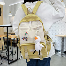 Panelled Cute Backpacks Women Harajuku Female School Bags for Girls Korean High School Students Campus Backpack Woman Luxury New(China)