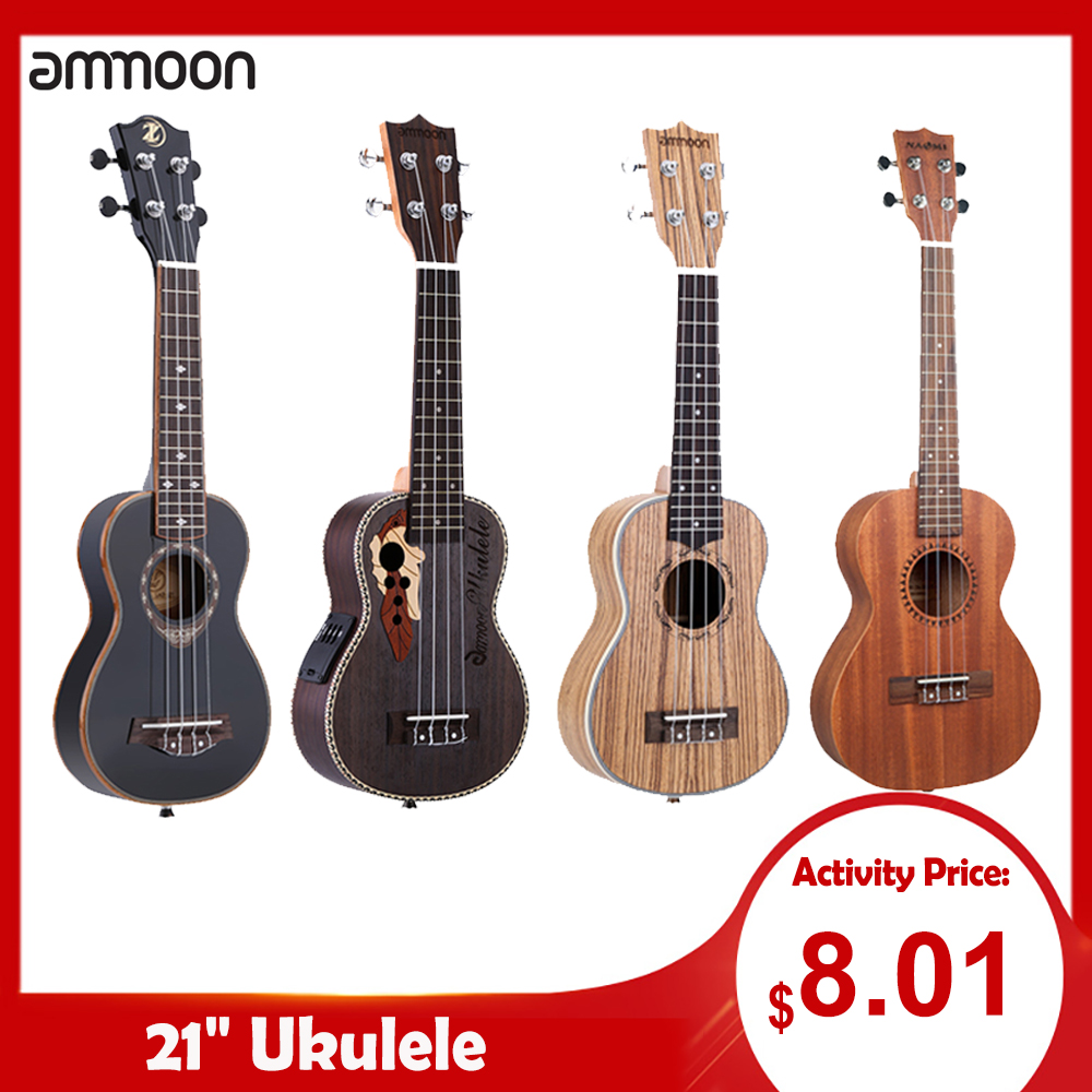 Ukulele-Set Guitar Stringed-Musical-Instrument Ammoon-Series 4-Strings 15-Fret 19-Styles title=