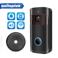 IP فيديو إنترفون واي فاي الفيديو باب الهاتف جرس الباب 720P كاميرا جرس الباب WIFI للشقق IR إنذار كاميرا أمان لاسلكية