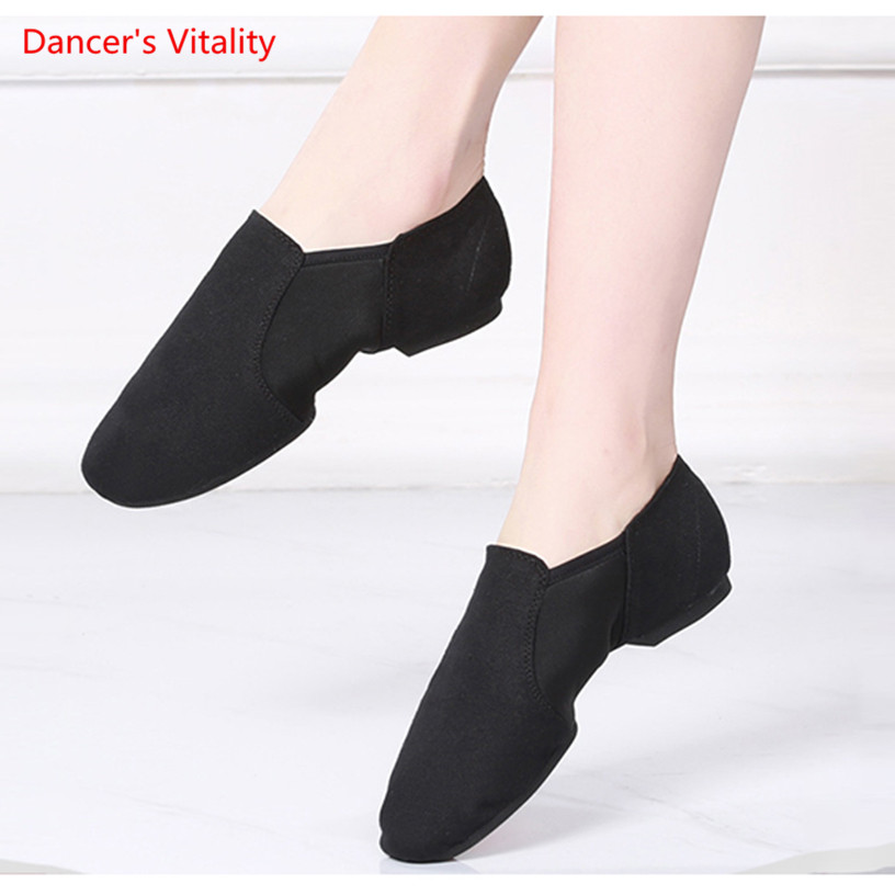Canvas Women Ballet Shoes Soft Bottom Breathable Ethnic Belly Dancing Shoes For Women Girls Exercise