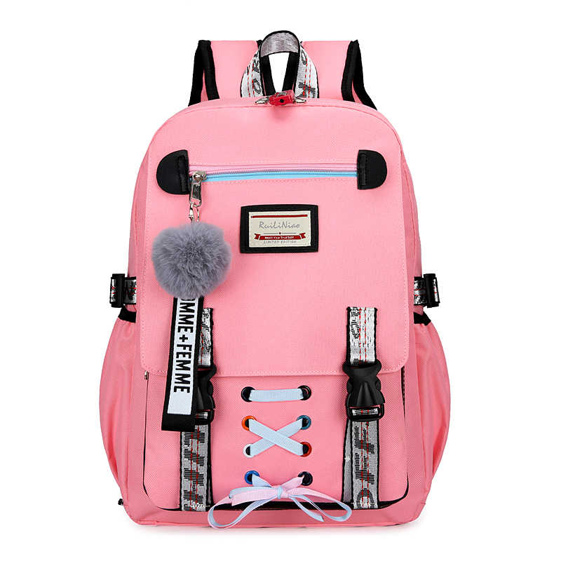 Anti Theft Backpack Women Laptop School Bags for Teenage Girls USB Charge Female Travel Schoolbag Female Mochilas Mujer 2019