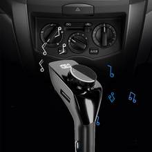 Car Audio MP3 Player USB Charger LED Bluetooth FM Transmitter AUX Adapter Music X3K6(China)