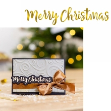 Merry Chritmas Hot Foil Plate Christmas Phrase for DIY Scrapbooking Embossing Crafts Cards Decoration New 2019