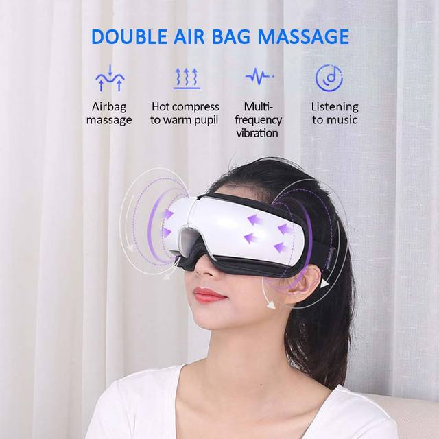 Bluetooth Eye Massager Air Pressures Eye Care Device Wrinkle Fatigue Relieve Eye Vibration Massage Hot Compress Therapy Glasses 4