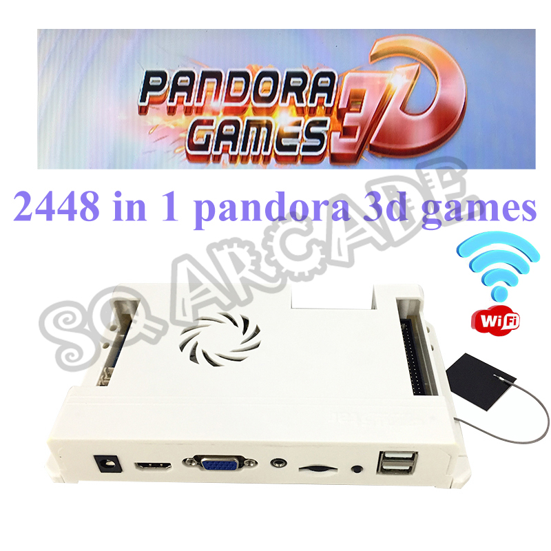 Wifi Version Pandora Box 2448 In 1 140pcs 3D Games Arcade PCB Motherboard Online Download Add Games VGA HDMI Output