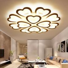 Factory direct Nordic modern minimalist living room bedroom LED ceiling lamp heart-shaped bedroom hotel lamp corridor light