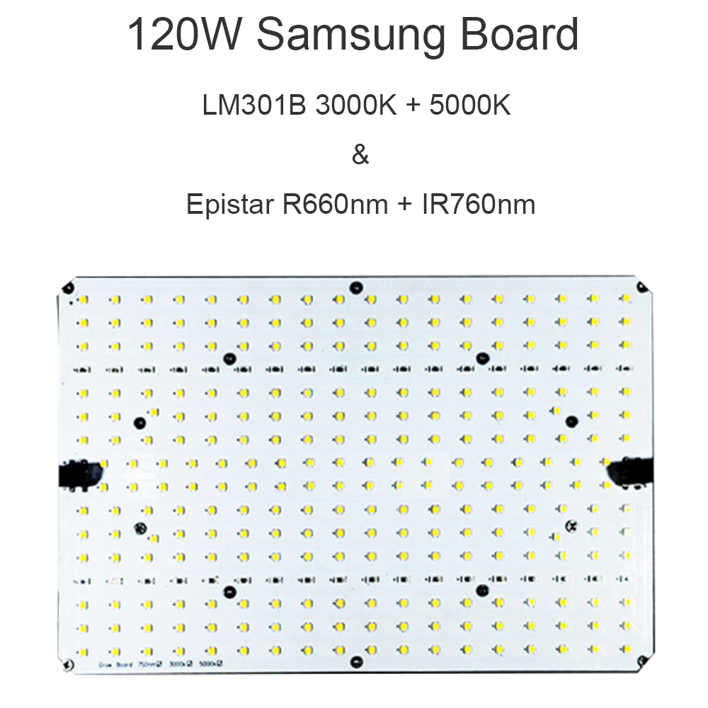 120W <font><b>Samsung</b></font> <font><b>Board</b></font> <font><b>LM301B</b></font> 3000K 5000K 660nm 760nmLED Grow Light for Plants Veg Flowering image