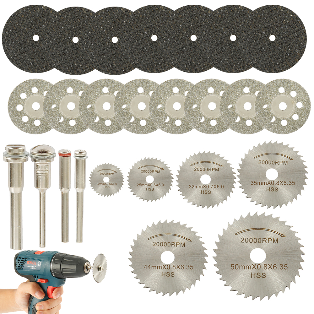 Circular-Saw-Blade-Set Drill Cutting Disc Power-Tools Metal-Saw Diamond Dremel Wood Bladeser