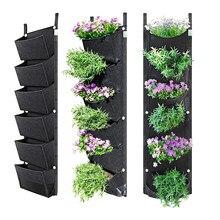 Jardinière verticale de jardin à montage mural, 100x30cm, 7 poches, pour culture de fleurs, légumes, fournitures pour la maison