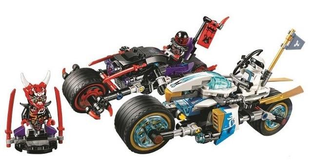 10802 333pcs Compatible with 70639 Street Race of Snake Jaguar Ninja Building Blocks Bricks Toys Model For Kids As Gifts 2