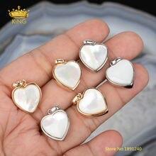 5 шт/лот 11 мм подвески в форме сердца для изготовления ювелирных