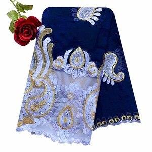 Image 1 - 2020 последняя африканская Женская шаль 100% хлопок мусульманский шарф Вышивка Сращивание с сеткой мусульманский шарф больших размеров для шали EC229