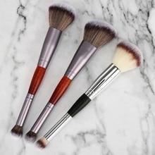 Teemo 1Pcs Professional Double Head Eyeshadow Brush Facial Foundation Blush Brushes Multifunction Makeup Tools